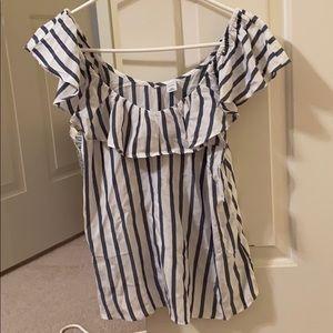 Old navy blue stripe blouse
